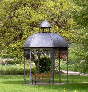 Gartenpavillon aus Metall Nostalgie